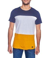 camiseta frank pierce multicolor de cortes azul-blanco-motaza / x2103