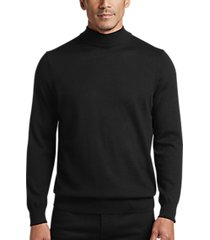 joseph abboud black mock neck performance sweater