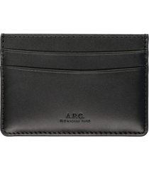 a.p.c. andré leather card holder