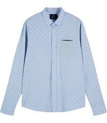overhemd chic pochet lichtblauw