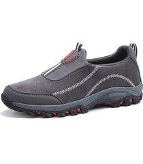 slip-on elastici in tessuto da uomo soft sneaekrs indossabili