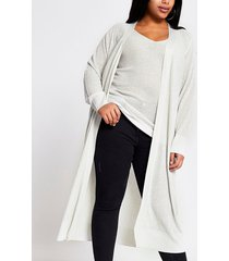river island womens plus silver diamante longline knit cardigan