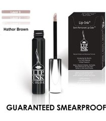 lip ink organic vegan 100% smearproof trial lip kits - hathor brown