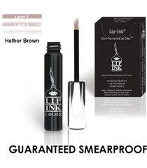 lip ink organic vegan 100% smearproof trial lip kits - hathor brown
