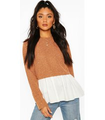 boucle high neck shirt, tan