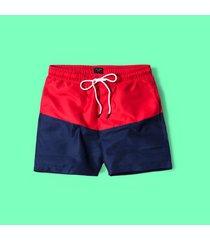 pantalóneta de baño para hombre - rojo