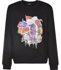 les hommes acid collage sweatshirt