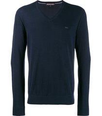 michael kors v-neck sweatshirt - blue
