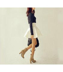 women sexy tutu empire waist skirt flared skater short a line skirt