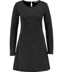 pieces zachte donkergrijze sweaterjurk - valt 1 maat kleiner