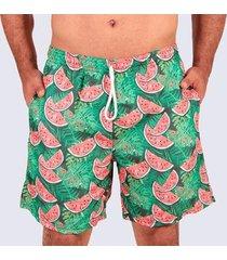 short praia slim melancia masculino
