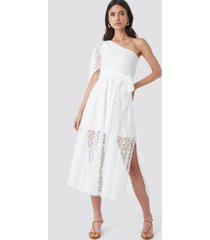 trendyol yol one shoulder dress - white