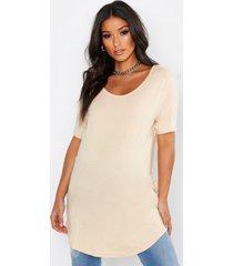 zwangerschap basic oversized t-shirt, ecru