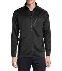 spyder men's logo zip-up jacket - blazing black - size s