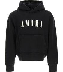 amiri logo embroidery hoodie