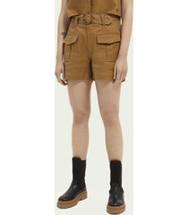 scotch & soda cotton & linen-blend utility shorts