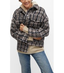 mango women's check tweed jacket