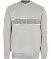 river island mens maison riviera grey check block sweatshirt