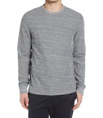 men's vince thermal crewneck pullover, size xx-large - grey