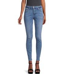 true religion women's jennie high-rise distressed curvy skinny jeans - medium - size 24 (0)