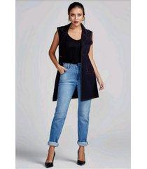 calça jeans alta jegging