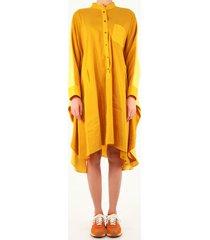 loewe anagram tunic dress in linen and silk