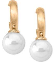 majorica imitation pearl (10mm) drop earrings