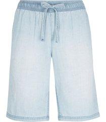 bermuda in denim leggero con tencel® lyocell e cinta comoda (blu) - bpc bonprix collection