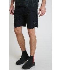 bermuda masculina esportiva ace com bolso preta