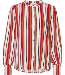 dhelena stripe shirt blouse lange mouwen rood denim hunter