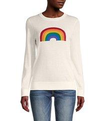 rainbow merino wool sweater