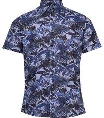 8599 - iver c st overhemd met korte mouwen blauw sand