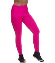 calça legging miss blessed com saia sobreposta rosa