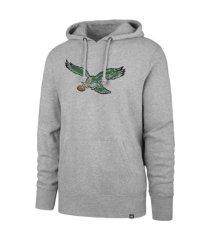 '47 brand philadelphia eagles men's throwback headline hoodie