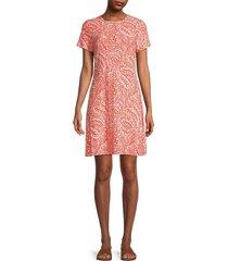 tommy hilfiger women's paisley-print knit dress - grenadine - size 10