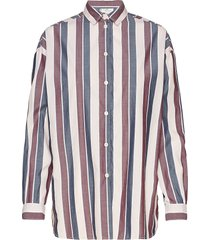 edith poplin shirt långärmad skjorta multi/mönstrad lexington clothing