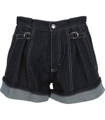 chloe high waisted denim shorts