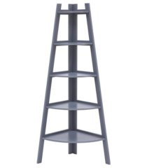 danya b. decorative 5-tier a-frame corner ladder display bookcase