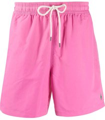 polo ralph lauren hawaiian swim shorts - pink