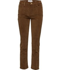 le high straight pantalon met rechte pijpen bruin frame