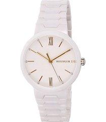 reloj tommy hilfiger 1781956 blanco resina
