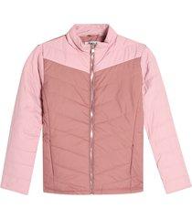 chaqueta mujer bloques color rosado, talla l