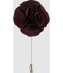 reiss piani - flower dress pin in bordeaux, mens