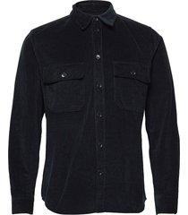 andrew 12w shirt skjorta casual blå wood wood