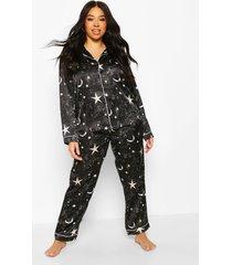 galaxy star-pyjamabroekset, zwart