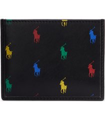 polo ralph lauren men's allover pony leather card case