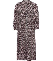 karola raye 3/4 dress aop jurk knielengte paars moss copenhagen
