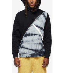 true religion men's tie dye color block hoodie