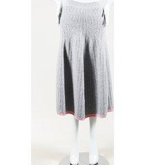 victoria beckham wool knit flared midi skirt