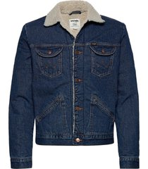 124wj sherpa jacket jeansjacka denimjacka blå wrangler